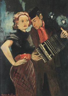 Accordion Player Couple, by Francis Picabia (French, Tristan Tzara, Musik Illustration, Vincent Van Gogh, Modern Art, Contemporary Art, Francis Picabia, Street Musician, Music Artwork, Art Moderne