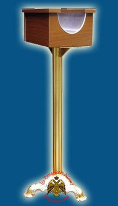 Orthodox Church Candle Case Melamine Wood 1 Site With Alouminum Standing Base Melamine Wood, Church Candles, Byzantine Art, Orthodox Christianity, Religious Icons, Art Store, Folk Art, Greek, Base