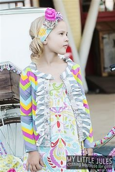 Mustard Pie Clothing Road Trip Stella Cardi Fruity Linen Spring 2014 size 18m and size 4