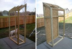 outdoor storage cabinet-for behind our 'office building'