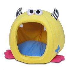Fashion Monster Chunky Igloo Pet Bed in Yellow Pet Brands Puppy Beds, Pet Beds, Cosy Bed, Dog Blanket, Happy Puppy, Cat Furniture, Monster, Pet Shop, Pet Supplies