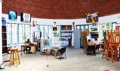 An art studio in Havana