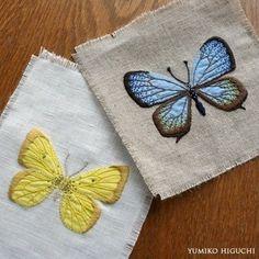 나비 모양 자수들입니다. 진짜 나비 같네요. 입체적으로 만들 수 있다니... 우와~~☆ #프랑스자구 #자수 #...