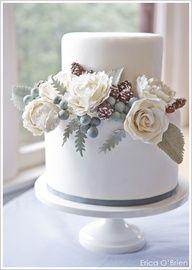 Winter White Wedding Cake by Erica O'Brien  |  TheCakeBlog.com