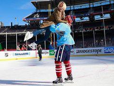 Julianne Hough - 2014 With Brooks Laich at the Bridgestone NHL Winter  Classic practice day in Washington 8044b49b5
