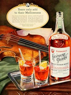 Bourbon Whiskey, Whisky, Vintage Advertisements, Vintage Ads, Tap Room, Classic Cocktails, Craft Beer, Whiskey Bottle, Kentucky