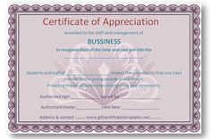 37 best certificate of appreciation templates images certificate