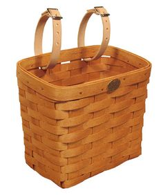 Peterboro basket small, medium, large, extra large, and rear rack bicycle baskets hold up to 70 pounds and come with genuine leather straps with zinc-coated buckles to attach securely to your bike. Bike Storage Basket, Bicycle Basket, Storage Baskets, Leather, Baggage, Ash, Lovers, Board, Pink