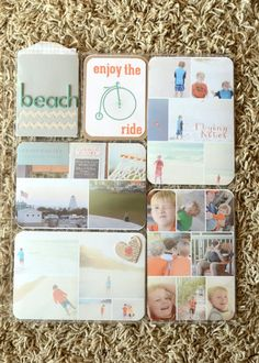 Love how each spread has its own color scheme. Beautiful! Also loving all the pictures in 1 spot!!