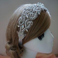 Women's+Rhinestone+Headpiece+-+Wedding/Special+Occasion+Headbands+–+AUD+$+50.04
