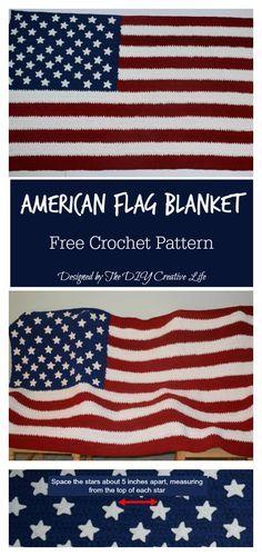 892e486bb76d American Flag Blanket Free Crochet Pattern