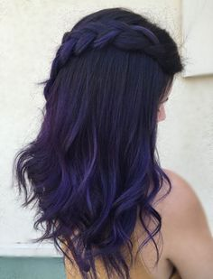 We can't decide which we love more: @lilmiss_ape's long purple hair color or her gorgeous cascading braid. Created by stylist @gelajeanhair at @seasonssalonspa. Aveda color formula in the comments.
