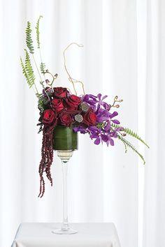 Poppy Parson's Valentine's Day design for the November/December 2013 issue of Canadian Florist magazine.