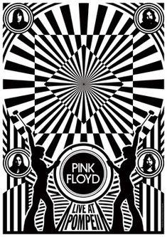 PINK FLOYD 1972 Live at Pompeii - live show artstic concert concept poster - manifesto artistico concerto - locandina. €15,00, via Etsy.