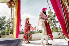 Outdoor Florida Sikh Wedding ceremony via IndianWeddingSite.com