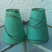 Retro vintage style 2 tier fiberglass lamp shade mid century retro vintage style 2 tier fiberglass lamp shade mid century modern atomic tiki mid century lamp shades pinterest vintage style vintage and retro mozeypictures Gallery