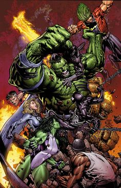 #WorldWarHulk ~ art by David Finch