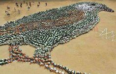 Estudantes em Chennai, na Índia, fazem um protesto contra a matança de pássaros. Veja também: http://semioticas1.blogspot.com.br/2012/10/lista-vermelha-da-extincao.html