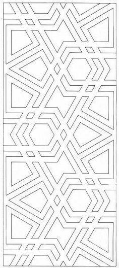 MAH 015 : The Design and Execution of Drawings in Iranian Tilework, Mahmood Maher al-Naqsh Geometric Patterns, Geometric Designs, Geometric Art, Textures Patterns, Islamic Art Pattern, Arabic Pattern, Stencil Patterns, Pattern Art, Zentangle Patterns