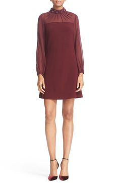 Ted Baker London Beaded High Neck Shift Dress available at #Nordstrom