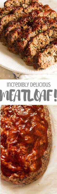 beef dishes Yasss may be the only word you utter after your chomp down and savor the bursting flavors of this delicious classic, tender, and moist meatloaf. Meat Recipes, Dinner Recipes, Cooking Recipes, Healthy Recipes, Amish Recipes, Dutch Recipes, Recipies, Cooking Ham, Game Recipes