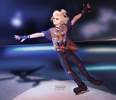 """nikadonna: """"what Yurio might have worn during Welcome to the Madness (ノ◕ヮ◕)ノ*:・゚✧ """""""