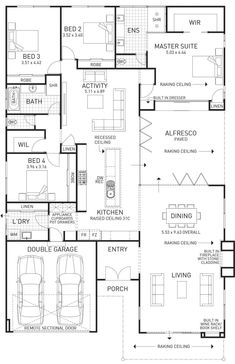 A bit like the plan we are doing. Pool House Plans, 4 Bedroom House Plans, New House Plans, Dream House Plans, Small House Plans, U Shaped House Plans, The Plan, How To Plan, Display Homes