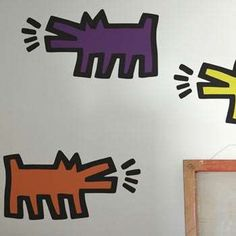 The Blik Keith Haring Collection has Prints You Can Stick on Your Walls #uniquedecals #stickerdecals trendhunter.com