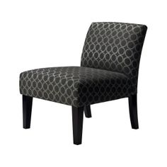 Avington Upholstered Slipper Chair - Graphite Circles