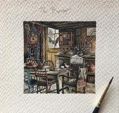 "5,040 отметок «Нравится», 78 комментариев — Lily Seika Jones (@rivuletpaper) в Instagram: «""It's not much, but it's home."" - A peek inside the Weasley's home, The Burrow. Loved the challenge…»"