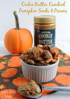 Cookie Butter Candied Pumpkin Seeds and Pecans.....crunchy, sweet & salty!
