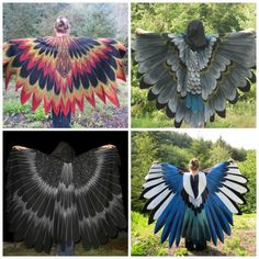 Spread Your Wings With These Gorgeous Bird Wing Cloaks. Reminds me of my pantomime days!