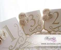 Resultado de imagen para numeros para las mesas de boda