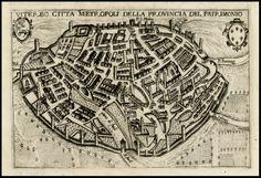 Viterbo Citta Metropoli Della Provincia Del Patrimonio - Barry Lawrence Ruderman Antique Maps Inc.