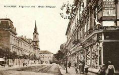 Ilyen is volt Budapest - 1930 táján, Nagymező utca, a pesti Broadway Budapest, Old Pictures, Old Photos, Historical Photos, Hungary, Paris Skyline, Arizona, Broadway, Street View