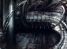 Biomechanical Landscape II Ω H. Giger From H. Giger's Necronomicon Xenomorph, Chur, Hr Giger Art, Sci Fi Kunst, Giger Alien, Surreal Artwork, Fantasy Artwork, 70s Sci Fi Art, Alien Art