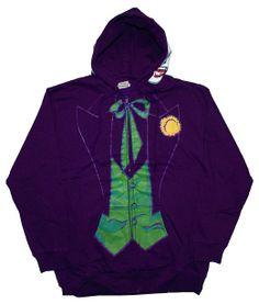 Amazon.com: Mens DC Comics The Joker Costume Hoodie: Clothing