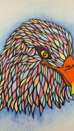 Zentangle Eagle.  By Lisa Mahin 2015
