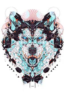 Electro Wolf |  ☮~ღ~*~*✿⊱╮Hippie Style, Free Spirit, Boho, - レ o √ 乇 !! ✿⊱╮❥☮