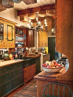 Love this Prim country kitchen..