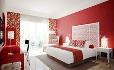 Black and red room decor ideas black and red painted rooms red and black color scheme for bedroom red bedroom decor ideas black white and red room decor Red Master Bedroom, Red Bedroom Walls, Red Bedroom Design, Red Bedroom Decor, Woman Bedroom, Bedroom Paint Colors, Red Walls, Modern Bedroom, Bedroom Ideas