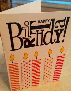 Easy, homemade birthday card.