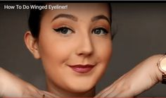 How to do winged eyeliner makeup tutorial Makeup Tutorial Eyeliner, No Eyeliner Makeup, Makeup Tutorials, How To Do Winged Eyeliner, Make Up Tutorial
