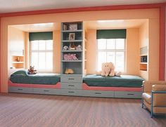 For a guest room??? t is interesting how the bedrooms are the exact same except for the color