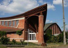 front of Csenger Sport Hall