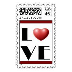 LOVE stamps, Valentine Heart in Love, postage