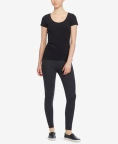 Lauren Ralph Lauren Petite Ponte-Knit Leggings - Dark Gents Heather P/M
