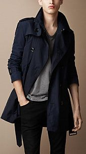 Lightweight Technical Fabric Packaway Trench Coat