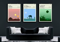 Star wars Travel posters set , New hope poster, Return of the jedi poster, Empire strikes back poste Star Wars Poster, Star Wars Art, All Poster, Poster Prints, Photo Pa, The Empire Strikes Back, A New Hope, Star Wars Episodes, Nursery Room