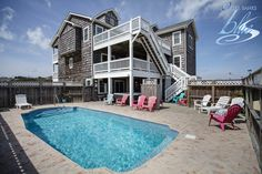 Rum Runner has 10 bedrooms, 10.2 bathrooms, and is located only 475 ft from the beach. The week of June 9 has been discounted for $800 off! - Outer Banks Vacation Rentals - Outer Banks Blue - Southern Shores Vacation Rentals - Vacation Discount